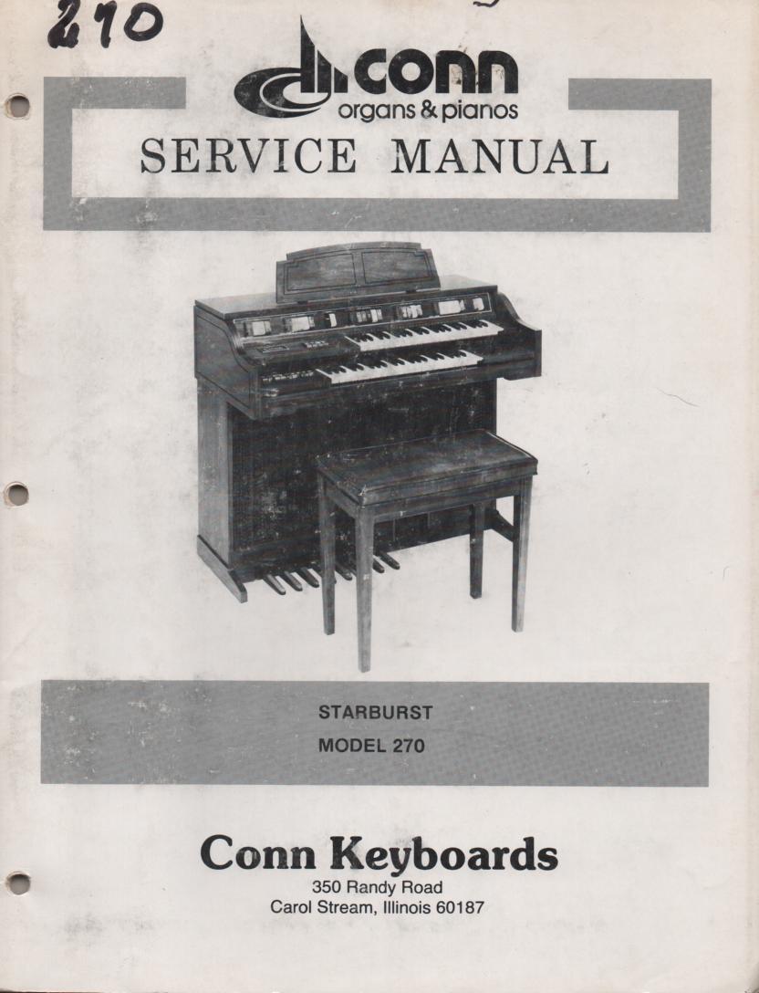 270 Starburst Service Manual