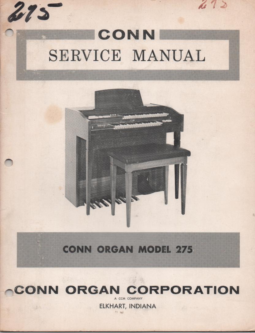 275 Organ Service Manual