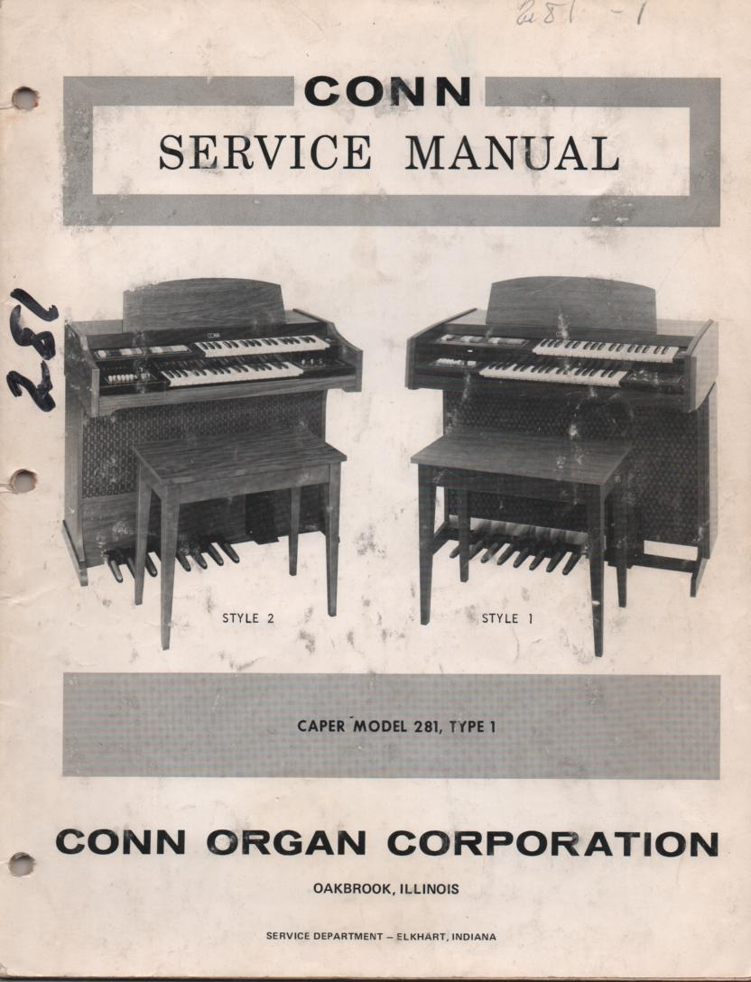 281 Caper Type 1 Style 1 2 Service Manual