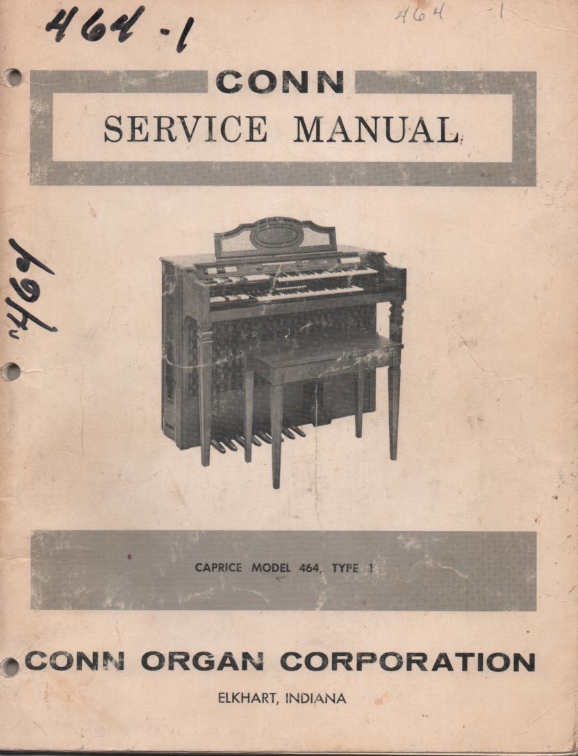 464 Caprice Organ Type 1 Service Manual
