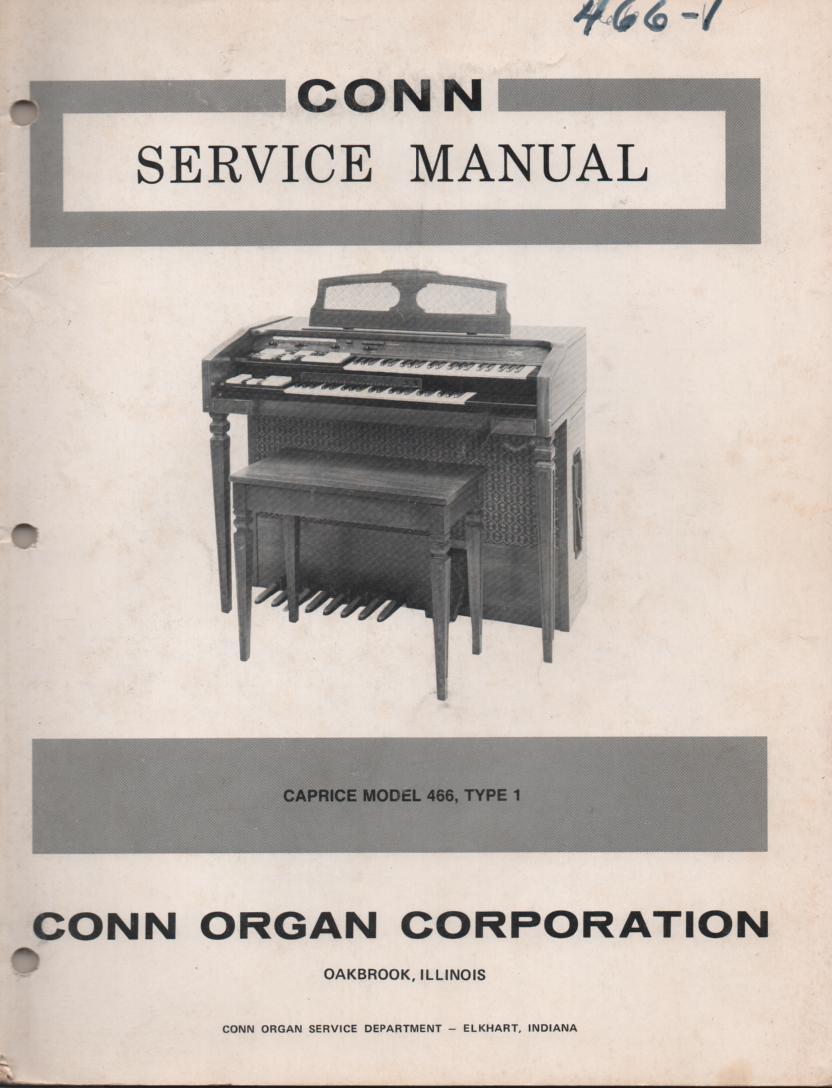466 Caprice Organ Type 1 Service Manual