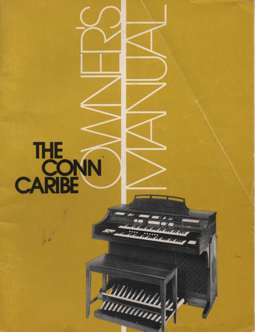 635 Caribe Organ Owners Manual