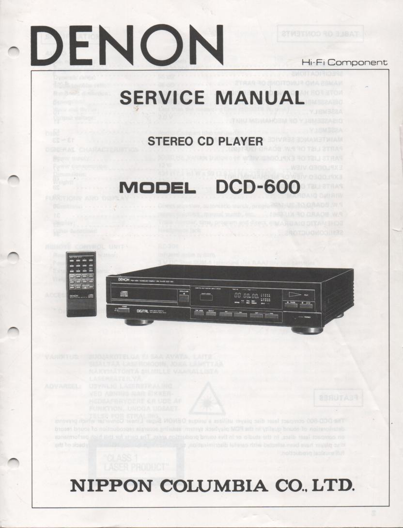 DN-C630 CD Player Service Manual
