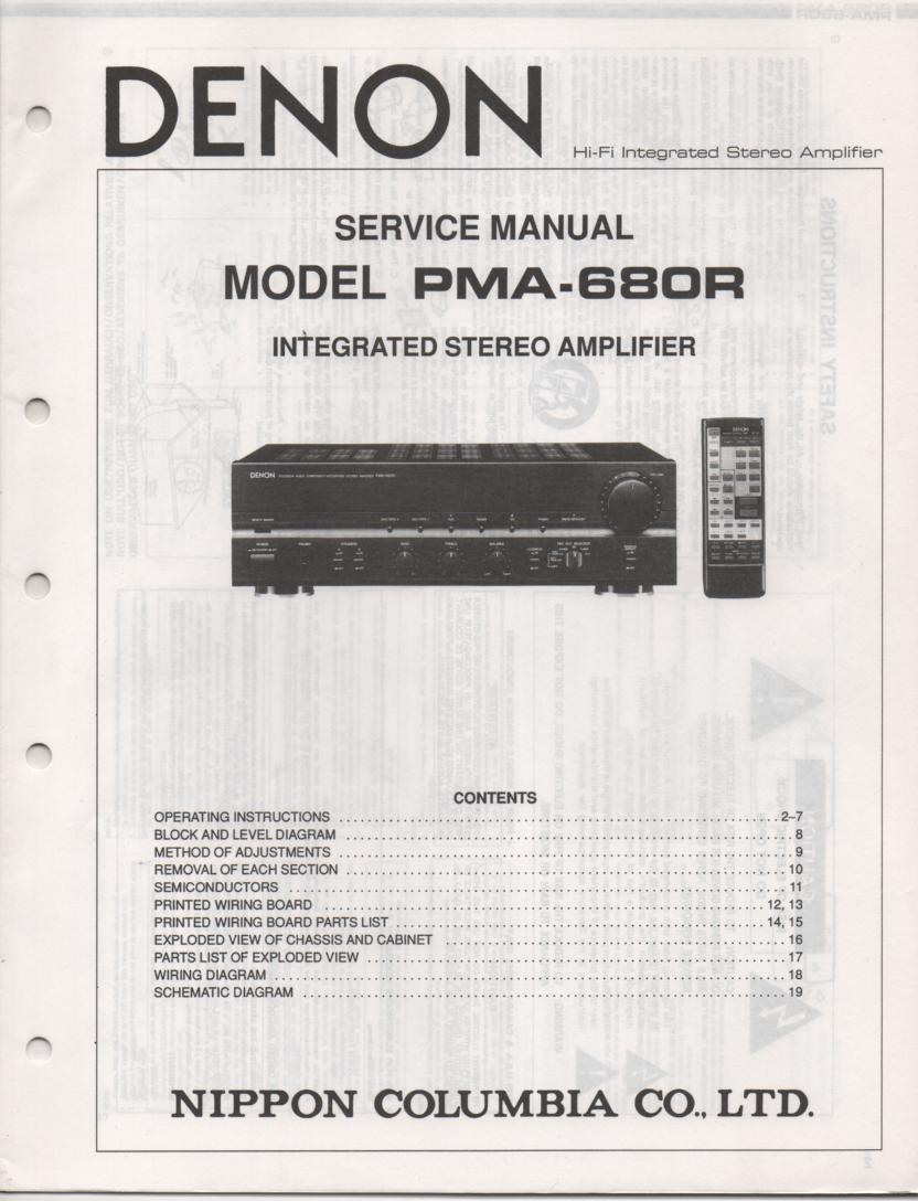 PMA-680R Amplifier Service Manual