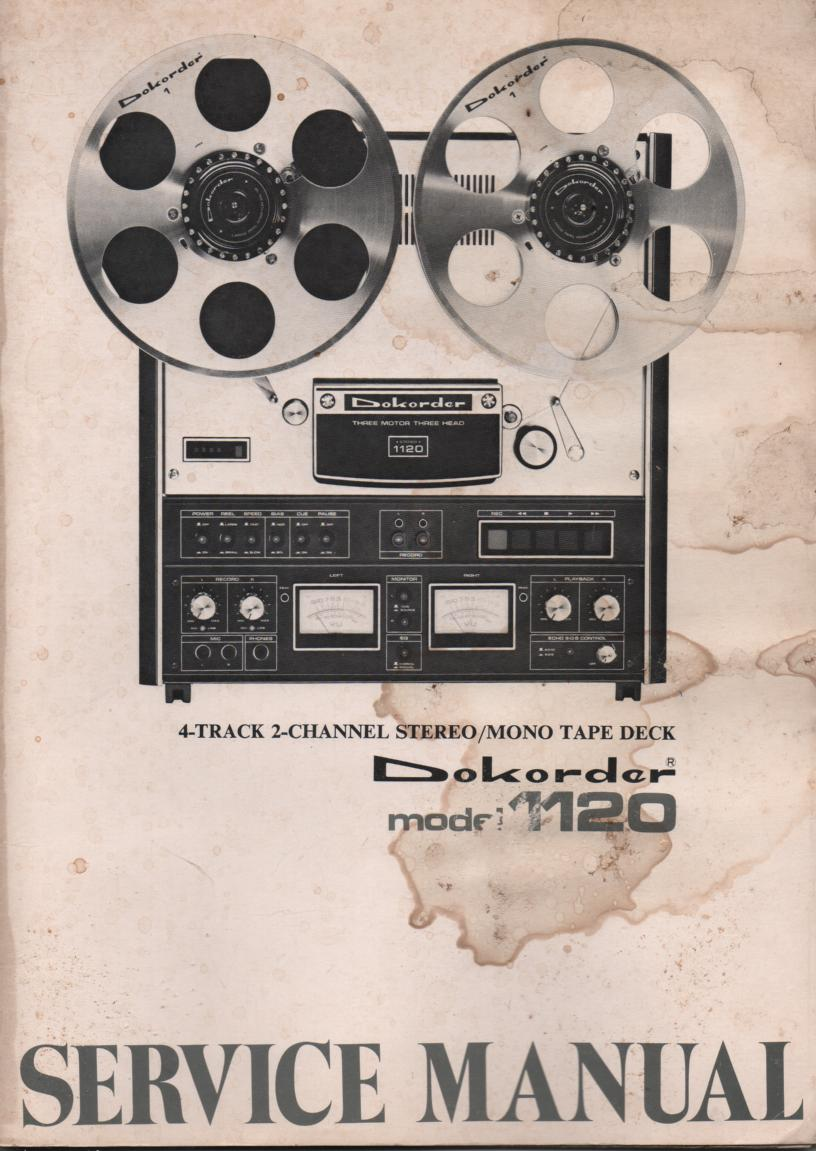 1120 Reel to Reel Service Manual  Dokorder