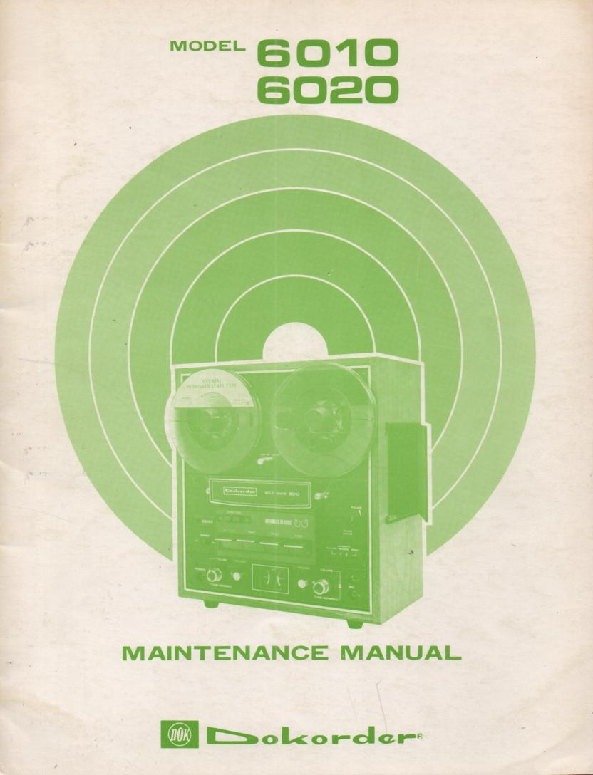 6010 6020 Reel to Reel Service Manual  Dokorder
