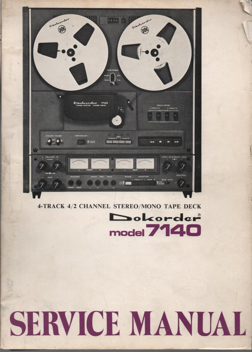 7140 Reel to Reel Service Manual  Dokorder