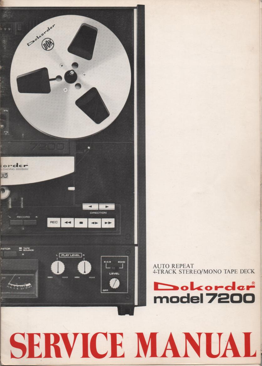 7200 Reel to Reel Service Manual  Dokorder