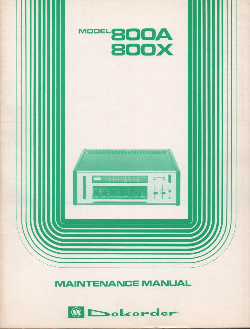 800A 800X Receiver Service Manual