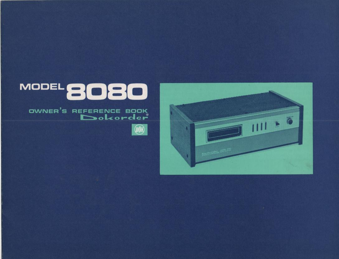 8080 8-Track Player Owners Manual