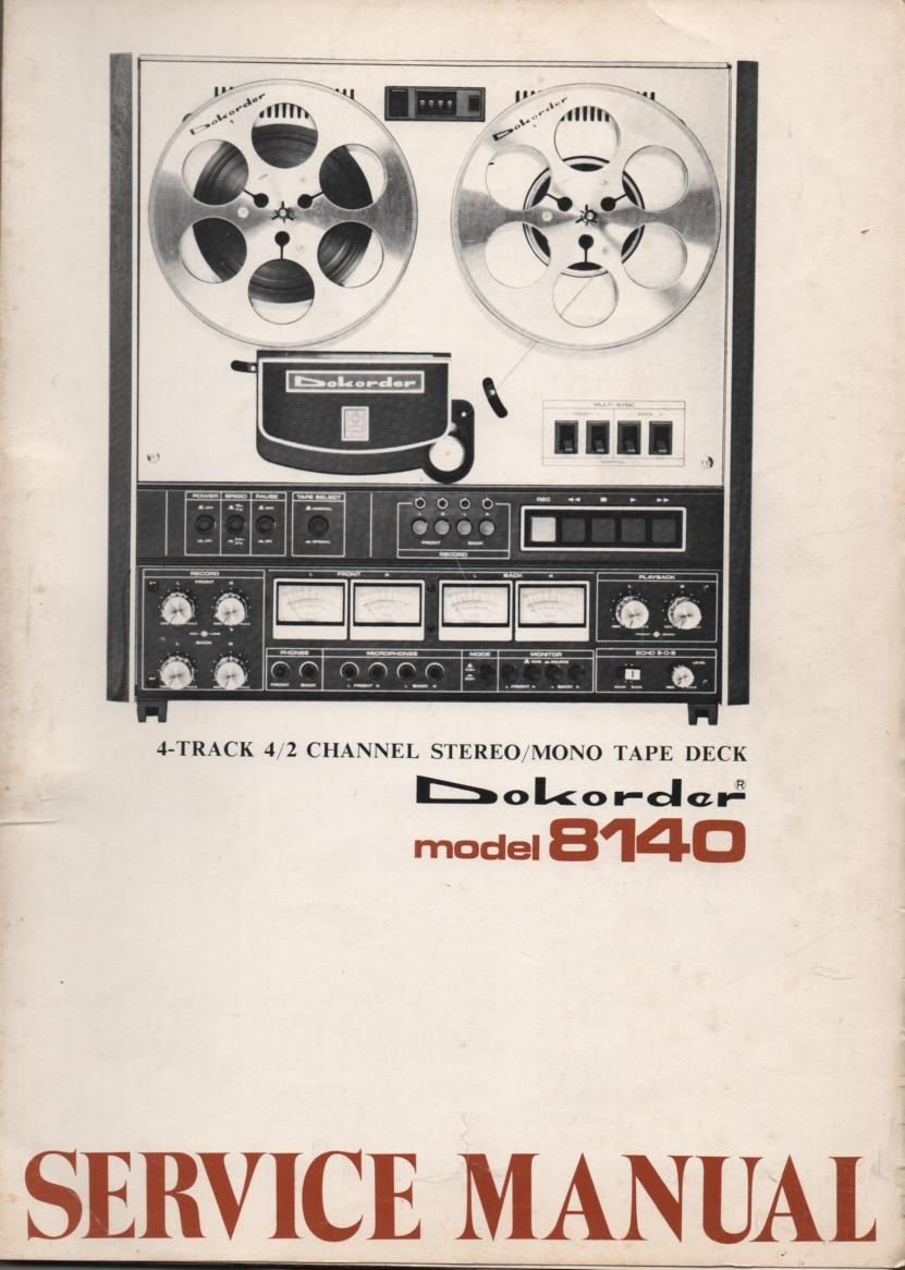 8140 Reel to Reel Service Manual  Dokorder