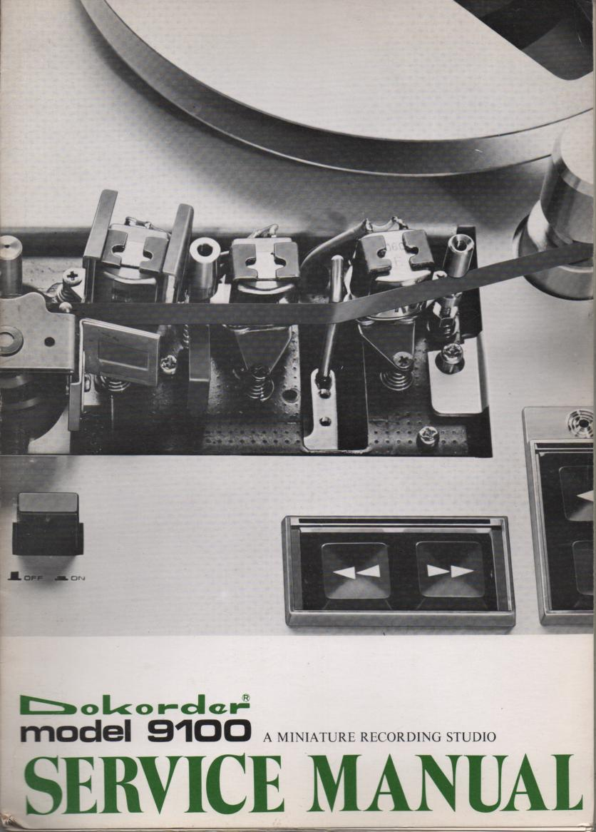 9100 Reel to Reel Service Manual  Dokorder