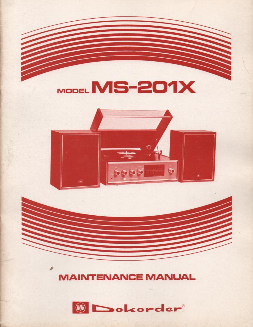 MS-201X Stereo System Service Manual