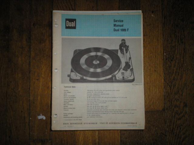 1009F 1009 F Turntable Service Manual