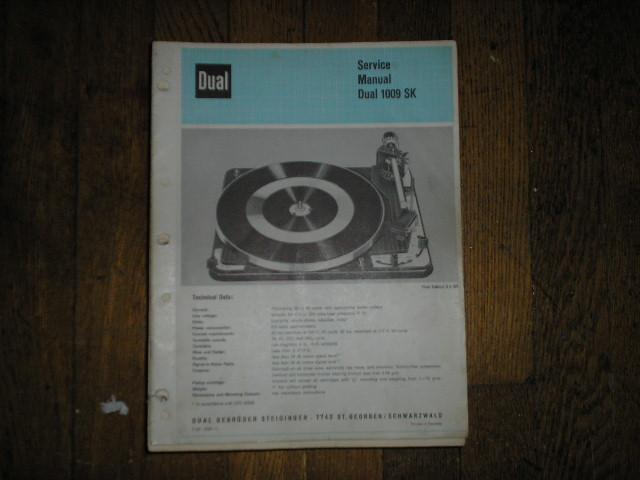 1009SK 1009 SK Turntable Service Manual