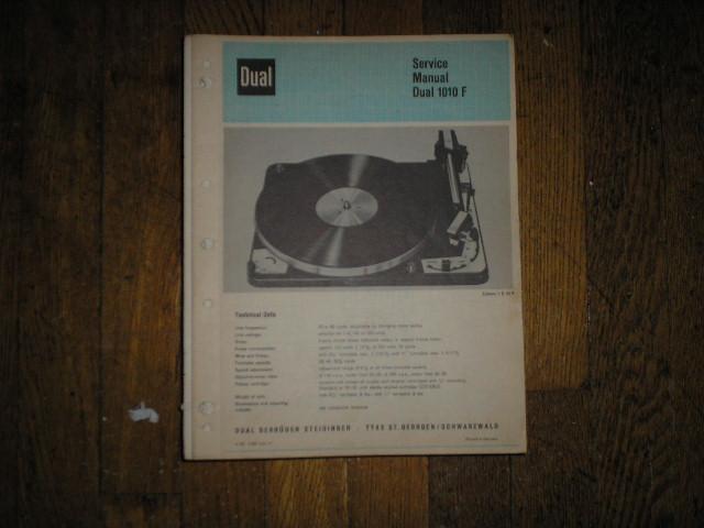 1010F 1010 F Turntable Service Manual