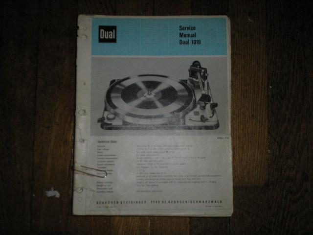 1019 Turntable Service Manual