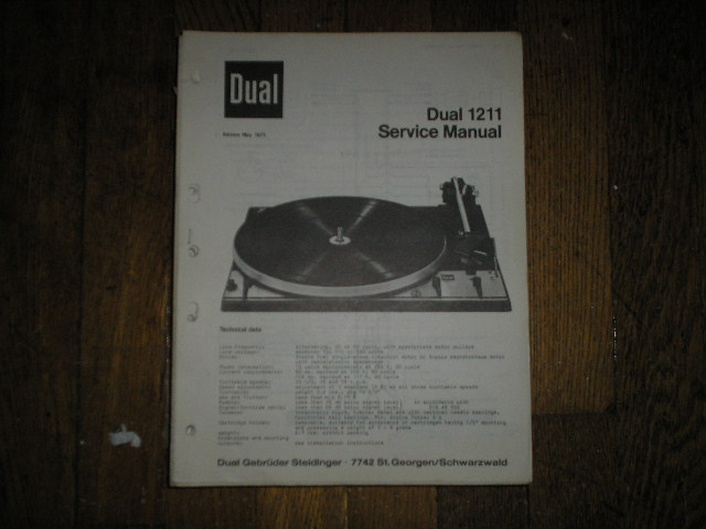 1211 Turntable Service Manual