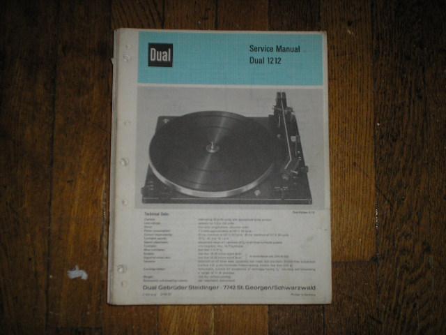 1212 Turntable Service Manual