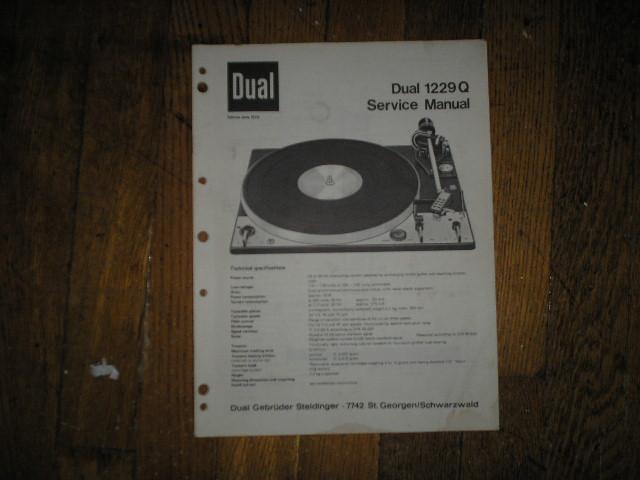 1229Q 1229 Q Turntable Service Manual