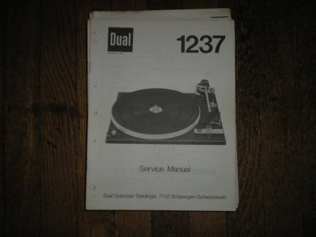 1237 Turntable Service Manual  Dual