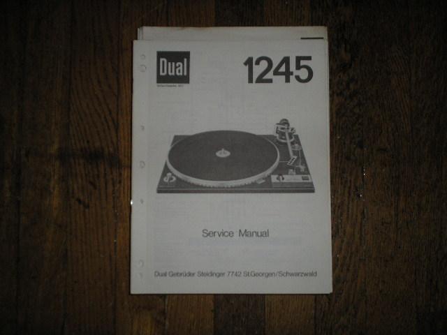 1245 Turntable Service Manual