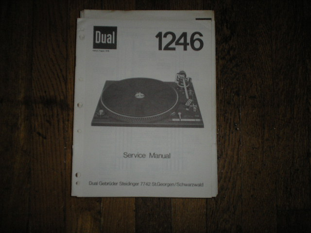 1246 Turntable Service Manual