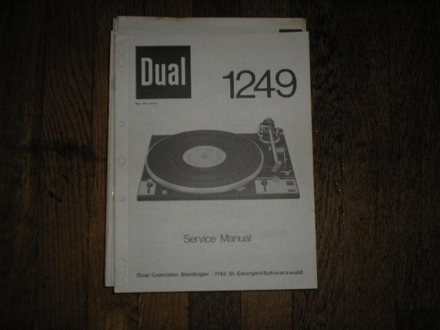 1249 Turntable Service Manual
