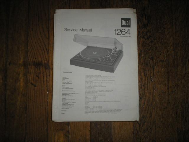 1264 Turntable Service Manual
