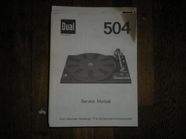 504 Turntable Service Manual  Dual