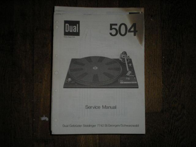 504 Turntable Service Manual