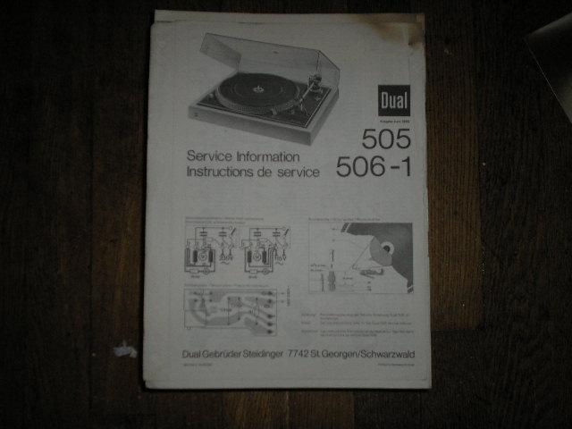 505 506-1 Turntable Service Manual