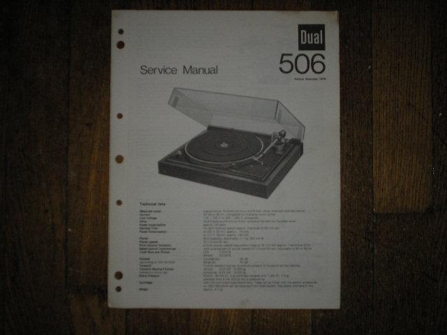 506 Turntable Service Manual