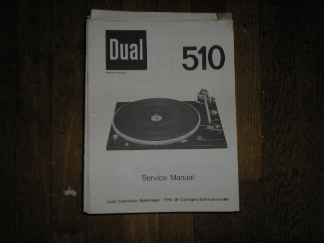 510 Turntable Service Manual  Dual