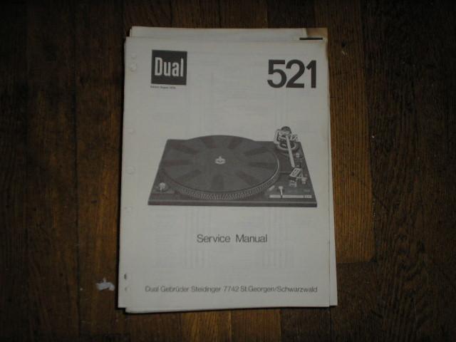 521 Turntable Service Manual