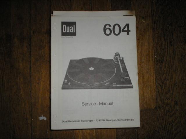 604 Turntable Service Manual