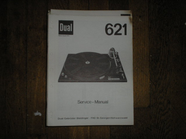 Dual 621 Turntable Service Manual / Turntable