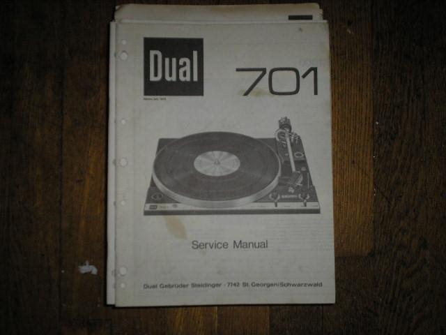 701 Turntable Service Manual