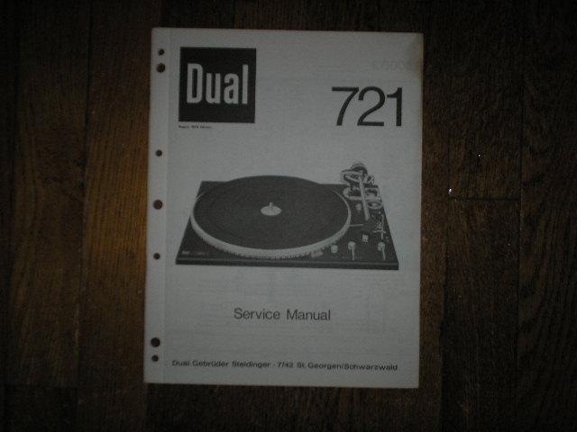 721 Turntable Service Manual