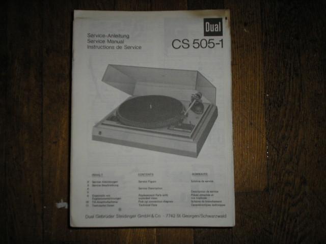 CS505-1 CS 505-1 Turntable Service Manual