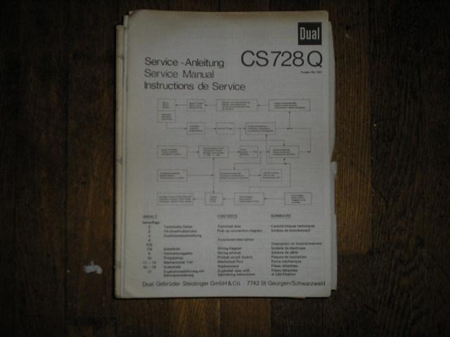 CS714Q CS 714 Q Turntable Service Manual
