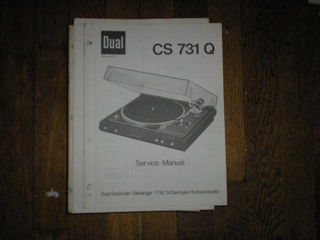 CS731Q CS 731 Q Turntable Service Manual