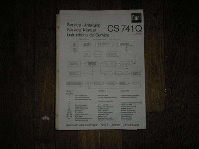 CS741Q CS 741 Q Turntable Service Manual