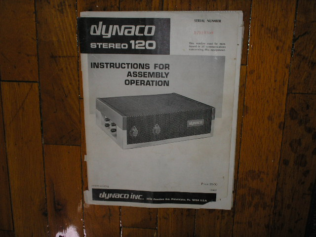 Stereo 120 Control Amplifier Assembly Manual contains a schematic,parts list, and the assembly instructions