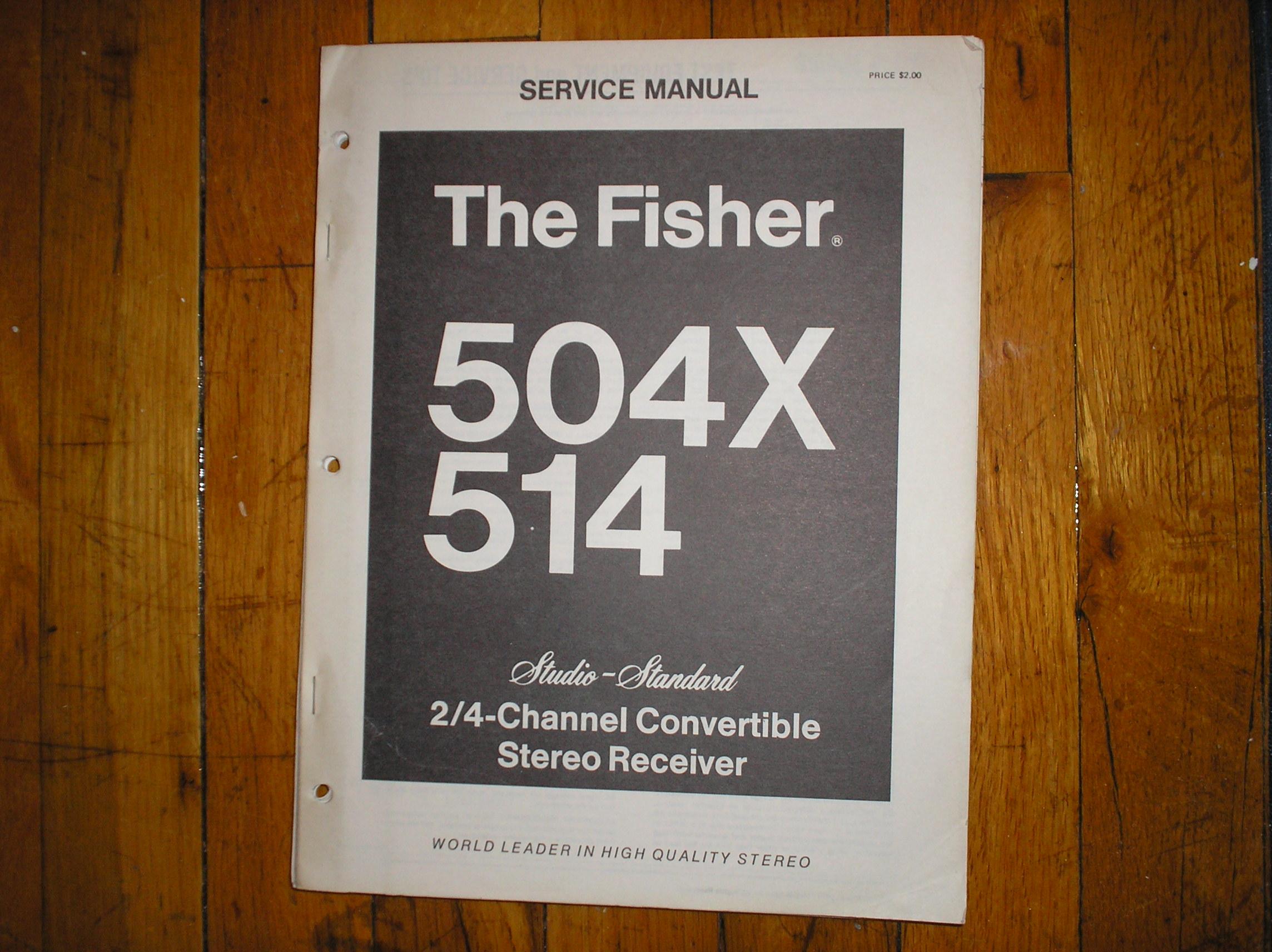 504X 514 Receiver Service Manual
