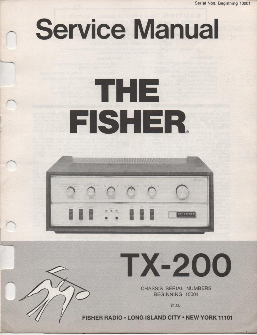 TX-200 Master Control Amplifier Service Manual