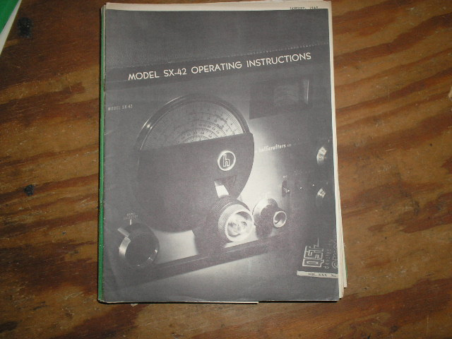 SX-42  Receiver Operating Instruction  Manual