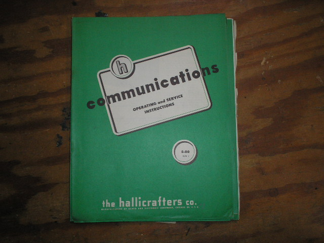S-80 Receiver Run-1 Operator Service Manual  Hallicrafters