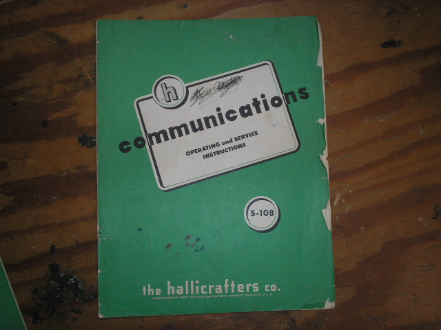 S-108 Receiver Installation Operator Manual  Hallicrafters