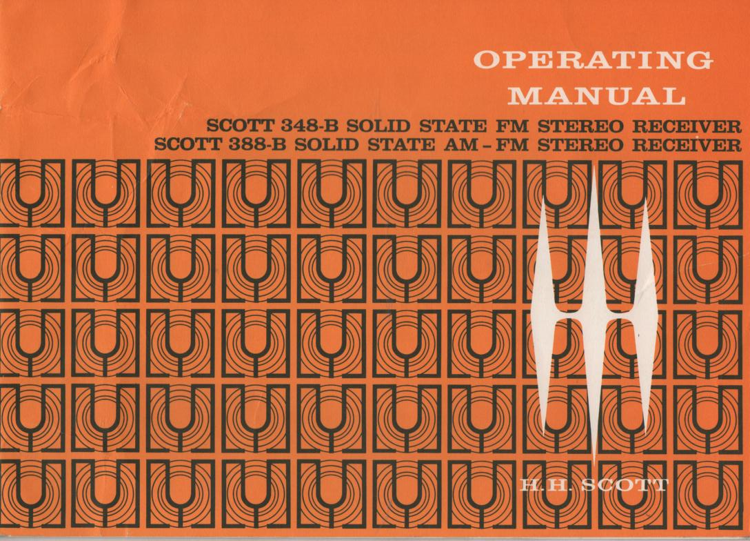 388-B AM FM Tuner Operating Instruction Manual